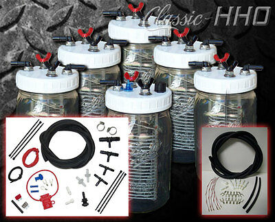 6 Cell System with Diesel Hook-Up Kit HHO Water4Gas Style Hydrogen Generator