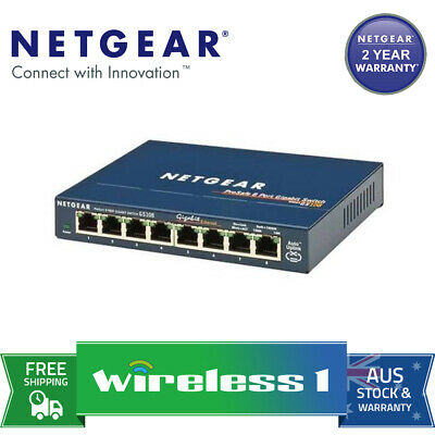 Netgear GS108 ProSAFE 8 Port Gigabit Desktop Switch