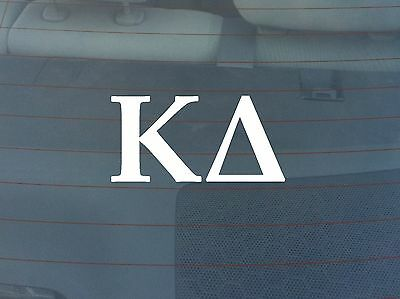 Kappa Delta Window Decal - White