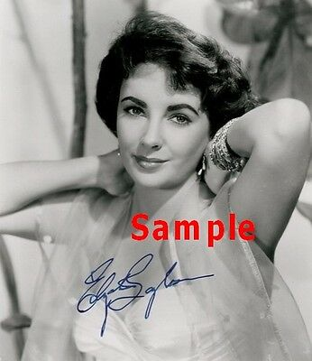Elizabeth Taylor VERY RARE 10x8 size PHOTO PICTURE PIC HOT SEXY CANDID