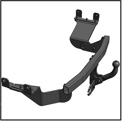 Towbar Tow Hitch Tow Ball Peugeot 4007 2007 to 2012 / swan neck Tow Bar Trailer