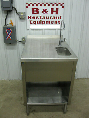 """DQ 24"""" x 36"""" Stainless One Bowl Dip Well Sink Milk Shake Flurry Ice Cream Table"""