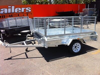 New Heavy Duty Gal Cage Box Trailers In Stock Ready To Work !