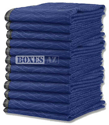 "Moving Blankets - 12 PC Padded Furniture Pads 72"" x 80"" 65lbs Quilted Blankets"