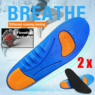 1 Pair Gel Orthotic Sport Running Insoles Insert Shoe Pad Arch Support Cushion