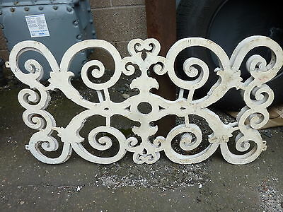 c1850-60 CAST iron window guards FANCY scrollwork ORNAMENTAL design 34 x 18""