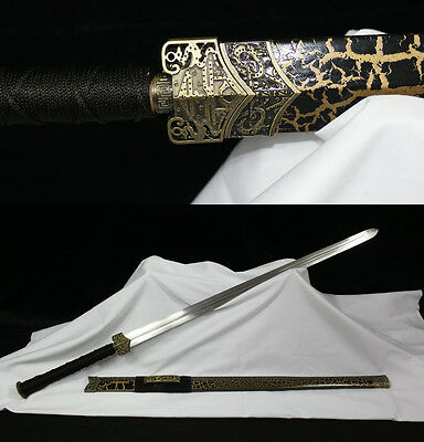 42' YELLOW SAYA  1060 CARBON STEEL HANDMADE CHINESE HAN 汉剑 SWORD