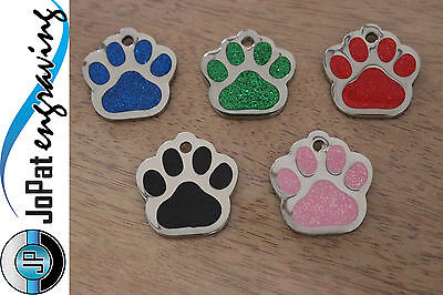 Glitter Deluxe Pet Tag - Puppy Kitten Dog Cat ID Identification Collar Tag