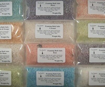 Foaming Dead Sea Bath Salts - Many Scents Available - Buy 3 Get 1 Free