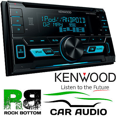 Kenwood DPX-3000U Car Double Din CD MP3 USB AUX iPod iPhone Stereo Radio Player
