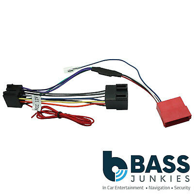 audi a6 2002-2004 car stereo rear speaker amplified bypass wiring harness  cable
