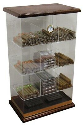 Prestige Import Group THE Roosevelt Wood Acrylic & Wood Accented Cigar Humidor