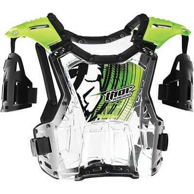 Thor NEW Mx Quadrant FLO Green Roost Guard Chest Protector Motocross Body Armour