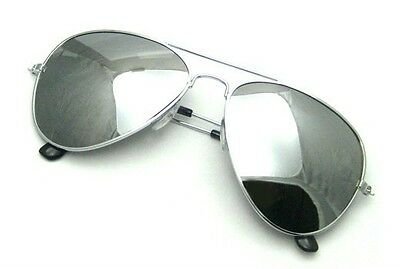 Extra Large Aviator Sunglasses Gold or Silver Frame Dark Mirror Lenses Oversized