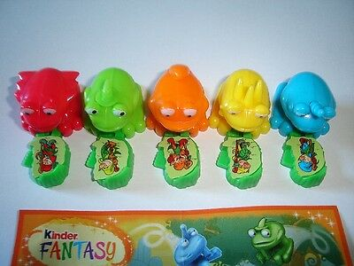 Kinder Surprise Set - Coloured Jumping Frogs - Toys Figures Collectibles