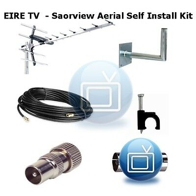 Saorview UHF TV Aerial Self Install Kit - D.I.Y Digital Antenna Installation