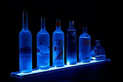 LED Lit Acrylic Bottle Display 4ft Shelf