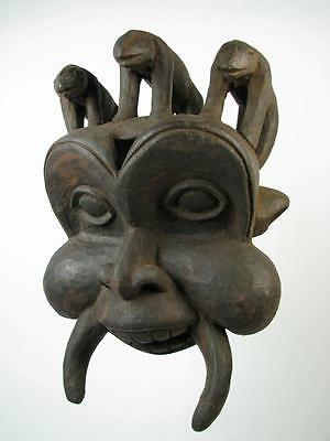 GothamGallery Fine African Art - Cameroon Bamum Tribal Mask E