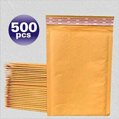 Yens® 500 #000 Kraft Bubble Padded Envelopes Mailers 4 X 8 by UPS Ground