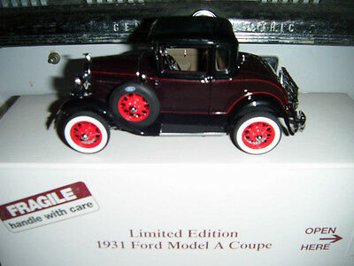 Danbury Mint 1:24 Limited Edition 1931 Ford Model A Coupe