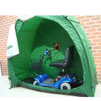 Green Bike Cave Tidy Tent Multi Functional Scooter Storage Solution Waterproof