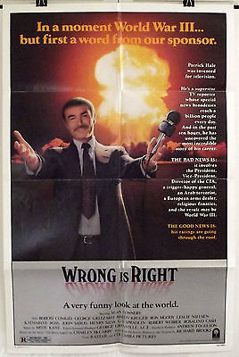 Wrong Is Right - Sean Connery / George Grizzard - Original Usa 1Sht Movie Poster