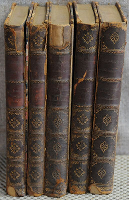 Ruskin's Works John Ruskin 5 vols 1890 ¼ leather Wiley