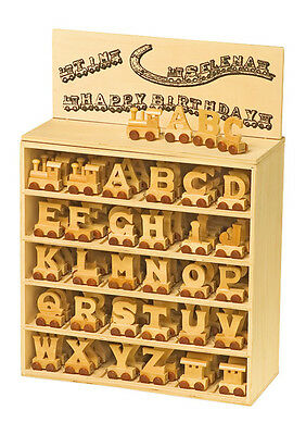 Baby Christening Gifts Wooden letters train for Personalised baby name train