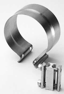EXHAUST CLAMP LAP TYPE ALUMINIZED STEEL  57mm 90351A