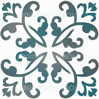 Large Wall Stencils Damask Stencil Diy Reusable Pattern Decor Faux Mural V0002