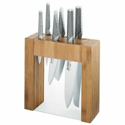 GLOBAL IKASU Knives Japanese 7 Piece Knife Block Set