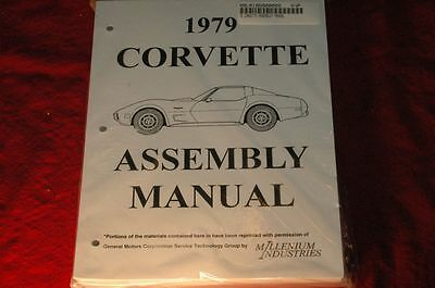 1979 Corvette C3 Assembly Manual 100's Of Pages Of Details & Illustrations
