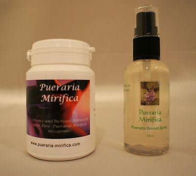 PUERARIA MIRIFICA BREAST SPRAY & CAPSULES 500mg FREE UK DELIVERY BUY NOW