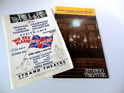 "Vintage Theatreprint: Strand Theatre, London ""no Sex, Please--We're British"""
