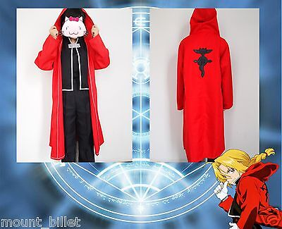 Japanese Anime FullMetal Alchemist Edward Elric Cosplay Costume SIZE L
