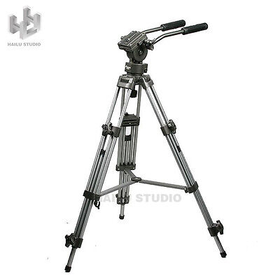 Professional Heavy Duty Tripod Video Camera W/ Fluid Pan Head for DSLR Camcorder
