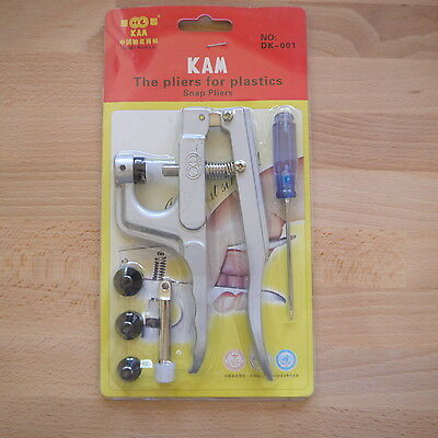 KAM Snap Pliers **GREAT VALUE**  *Free P & P*  For plastic poppers/resin snaps