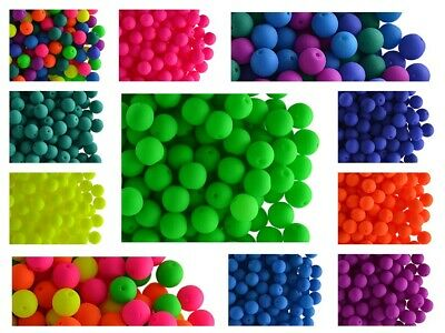 CHOOSE COLOR! 40pcs 6mm Czech Glass Round Pressed Beads NEON (UV-Active)