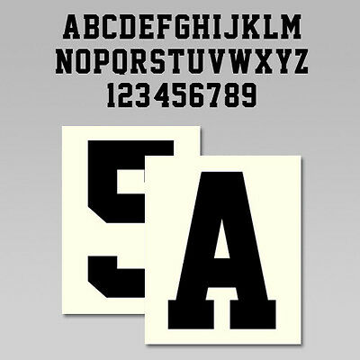 Custom Iron On Heat Transfer, One Letter or Number, Team Sports Font, 20 Colors