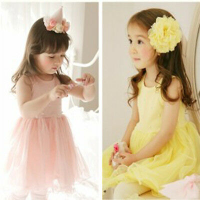 New Designer Baby Girl Tutu Dress Top Clothes Wedding Size: 1, 2, 3, 4, 5 Gift