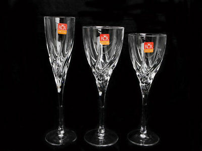 Crystal 18PCE Trix Champagne, Red & White Wine Set RCR Crystal glasses