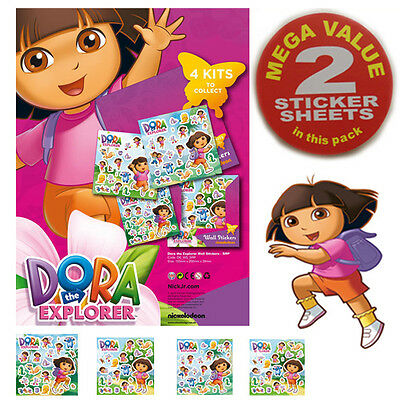 New Dora The Explorer Kids Sticker Girl's Gift Card Child Craft Wall Stickers x2