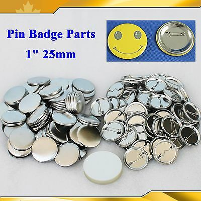 "DIY PRO  All Metal 1000 Pin Badge 1"" 25mm  Button Parts Supplies BUTTON Maker"