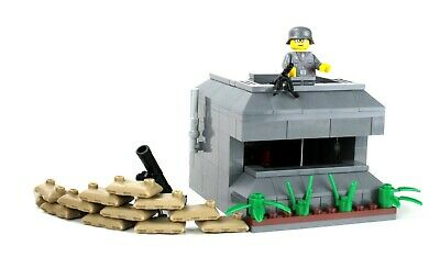 WW2 Axis Bunker Army Builder Complete Set made w/ real LEGO® bricks