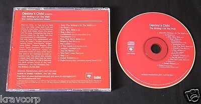 Destiny'S Child 'The Writing'S On The Wall' 1999 Advance Cd—Beyonce