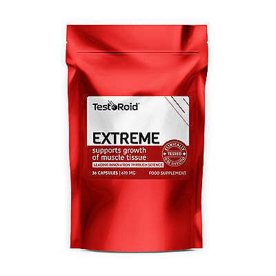 Testoroid Extreme Testosterone Booster Strongest Legal Body-Building Supplement