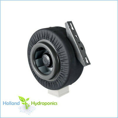 """6"""" INLINE CENTRIFUGAL EXHAUST DUCT FAN BLOWER with METAL BLADE & LEATHER JACKET"""