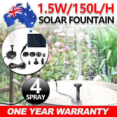 OZ A Solar Power Fountain Submersible Water Pump Garden Pond Pool Panel Set