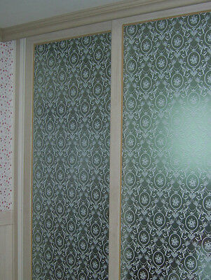 92cm/m White Persia Pattern Frosted Frosting Dusted Window Film 24hrs Privacy