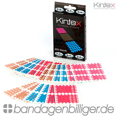 Kintex Kinesiology Cross Tape Mix Box - Gittertape mit 102 Pflaster Inhalt!!!